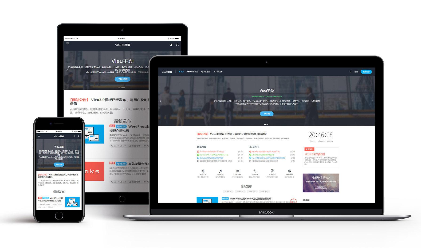 本站Vieu主题,介绍购买及使用说明