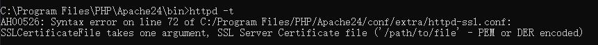 记录一个Apache 开启 SSL 的一些错误解决方法